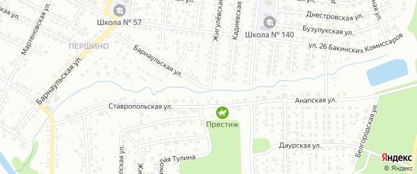 Жигулевская улица на карте Челябинска с номерами домов