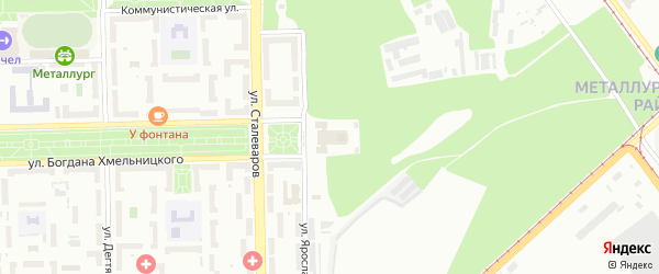Территория ГСК 517 филиал 1 по ул Гашека на карте Челябинска с номерами домов