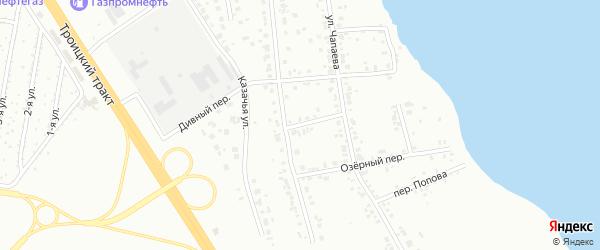 Переулок Новый (Исаково) на карте Челябинска с номерами домов