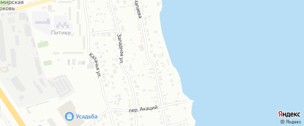Улица Чапаева (Смолино) на карте Челябинска с номерами домов