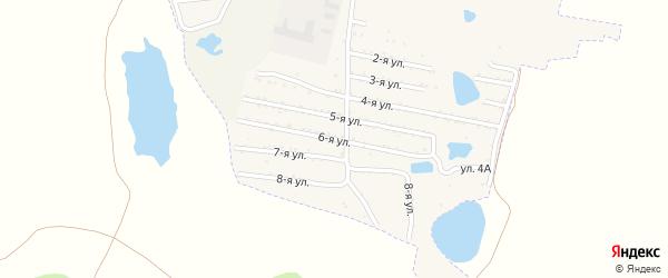Шестая улица на карте садового товарищества Динамовца с номерами домов