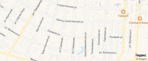Улица Свердлова на карте Коркино с номерами домов