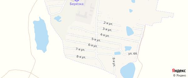 Пятая улица на карте садового товарищества Динамовца с номерами домов