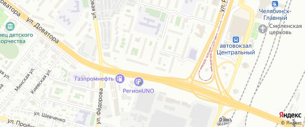 Морозовская улица на карте Челябинска с номерами домов