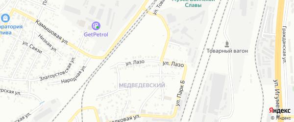 Улица Лазо на карте Челябинска с номерами домов
