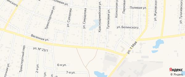 Переулок Белинского на карте Коркино с номерами домов