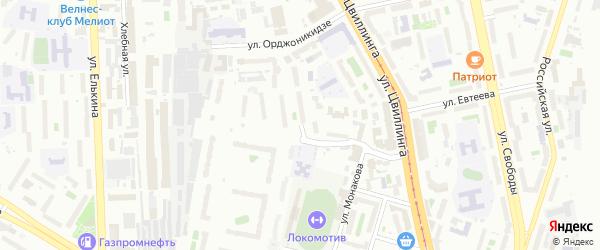 Телевизионная улица на карте Челябинска с номерами домов