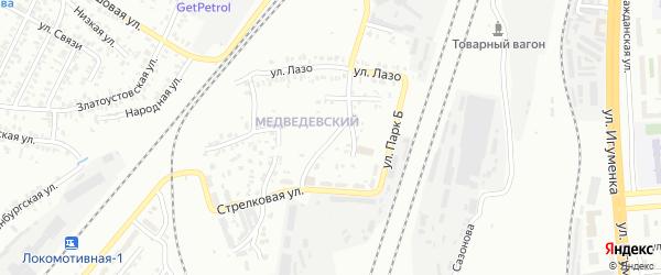 Самовольная улица на карте Челябинска с номерами домов