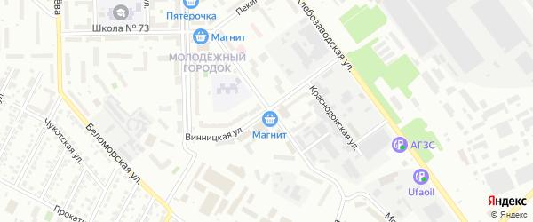 Винницкая улица на карте Челябинска с номерами домов