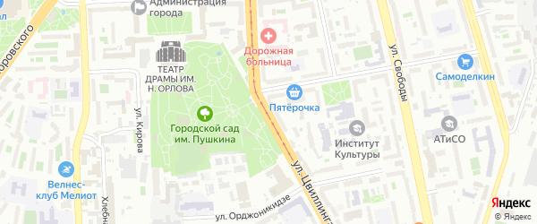 Улица Цвиллинга на карте Челябинска с номерами домов