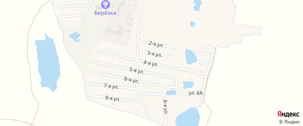 Четвертая улица на карте садового товарищества Динамовца с номерами домов