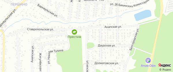 Орловская улица на карте Челябинска с номерами домов