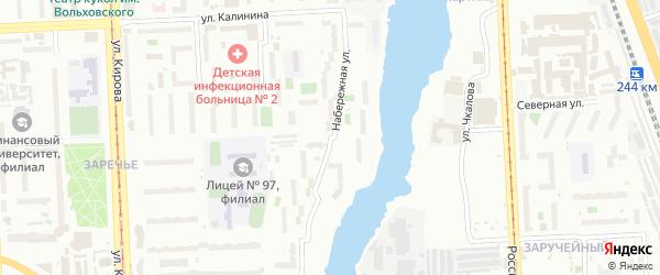 Набережная улица на карте Челябинска с номерами домов