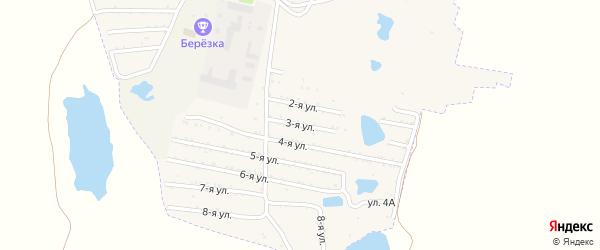 Третья улица на карте садового товарищества Динамовца с номерами домов