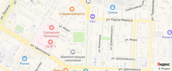 Проспект Горняков на карте Коркино с номерами домов