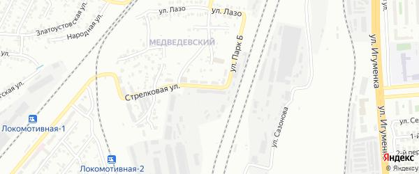 Улица Парк Б на карте Челябинска с номерами домов
