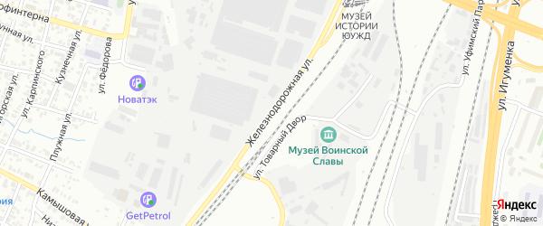 Улица Железнодорожная (Исаково) на карте Челябинска с номерами домов