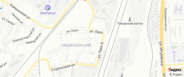 Коровинская улица на карте Челябинска с номерами домов