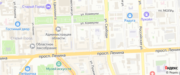 Улица Пушкина (Новосинеглазово) на карте Челябинска с номерами домов