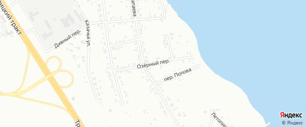Озерный переулок на карте Челябинска с номерами домов