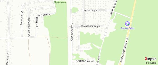Долматовский переулок на карте Челябинска с номерами домов