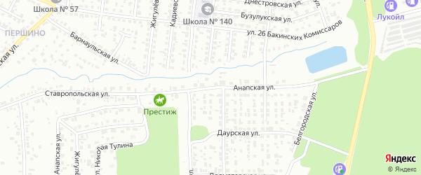Анапская улица на карте Челябинска с номерами домов