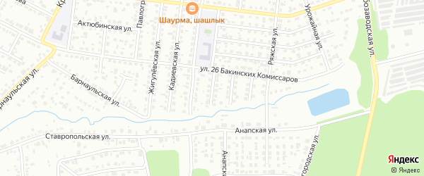 Невьянский переулок на карте Челябинска с номерами домов