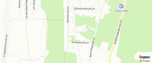 Белгородский переулок на карте Челябинска с номерами домов