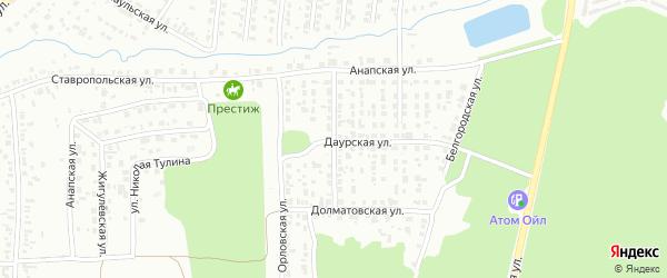 Анапский переулок на карте Челябинска с номерами домов