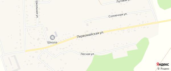 Первомайская улица на карте поселка Ясные Поляны с номерами домов