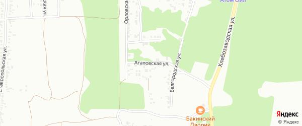 Агаповская улица на карте Челябинска с номерами домов