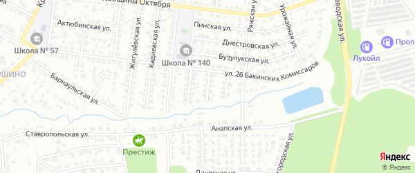 Медногорская улица на карте Челябинска с номерами домов