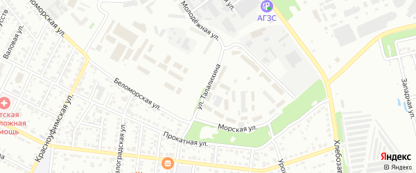 Улица Талалихина на карте Челябинска с номерами домов