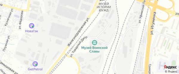 Улица Товарный Двор на карте Челябинска с номерами домов