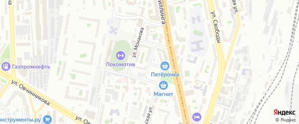 Переселенческая улица на карте Челябинска с номерами домов