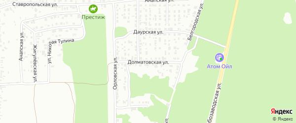 Долматовская улица на карте Челябинска с номерами домов