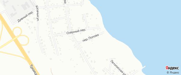Переулок Попова на карте Челябинска с номерами домов