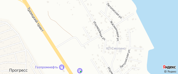 Родной переулок на карте Челябинска с номерами домов