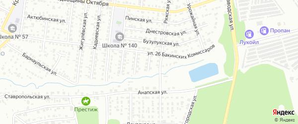 Невьянский 1-й переулок на карте Челябинска с номерами домов