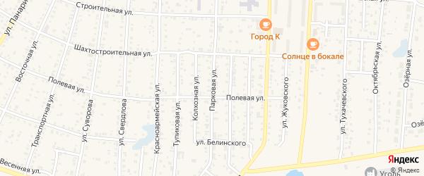 Парковая улица на карте Коркино с номерами домов