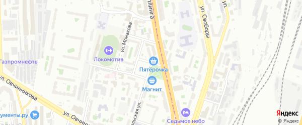 Лазаретная улица на карте Челябинска с номерами домов