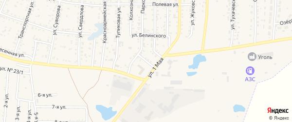 Пригородная улица на карте Коркино с номерами домов