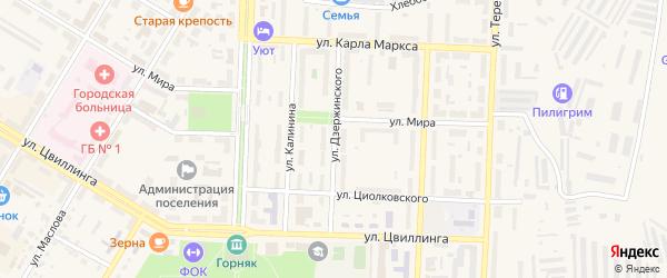 Улица Дзержинского на карте Коркино с номерами домов