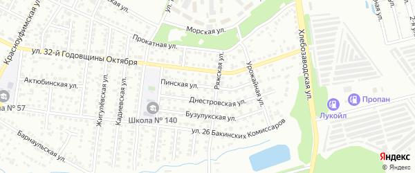 Пинская улица на карте Челябинска с номерами домов