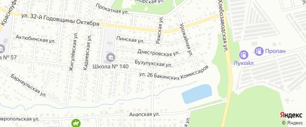 Бузулукская улица на карте Челябинска с номерами домов