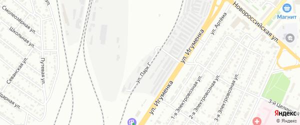 Улица Парк Г на карте Челябинска с номерами домов