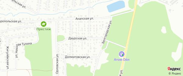 Даурская улица на карте Челябинска с номерами домов