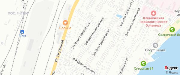 Фестивальный 2-й переулок на карте Челябинска с номерами домов