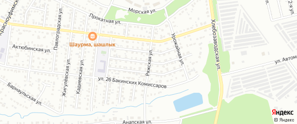 Ряжская улица на карте Челябинска с номерами домов