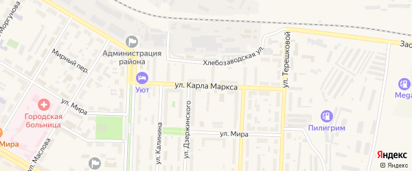 Улица Карла Маркса на карте Коркино с номерами домов